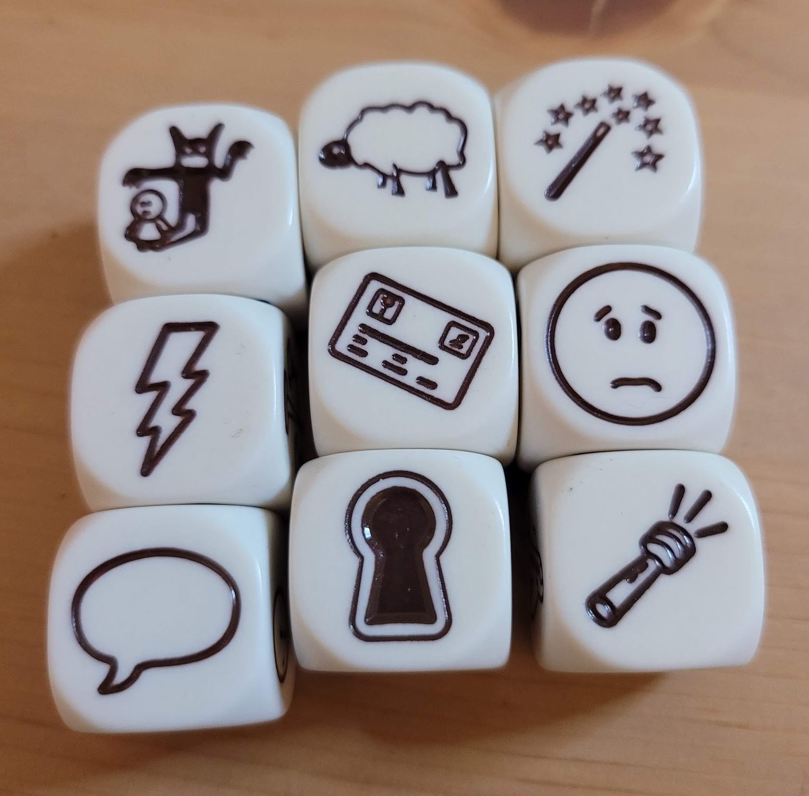 dice with different images