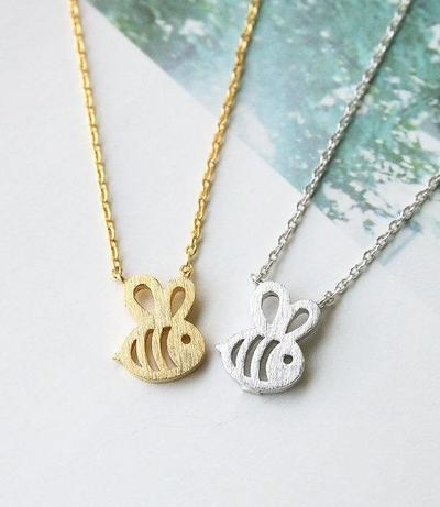 necklace dainty feminine baby bee necklace 2 400x